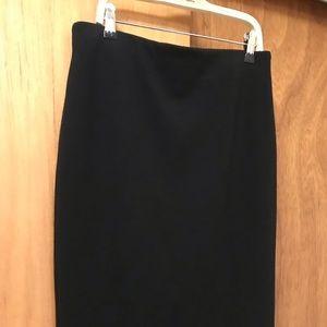 Black Philosophy pencil skirt